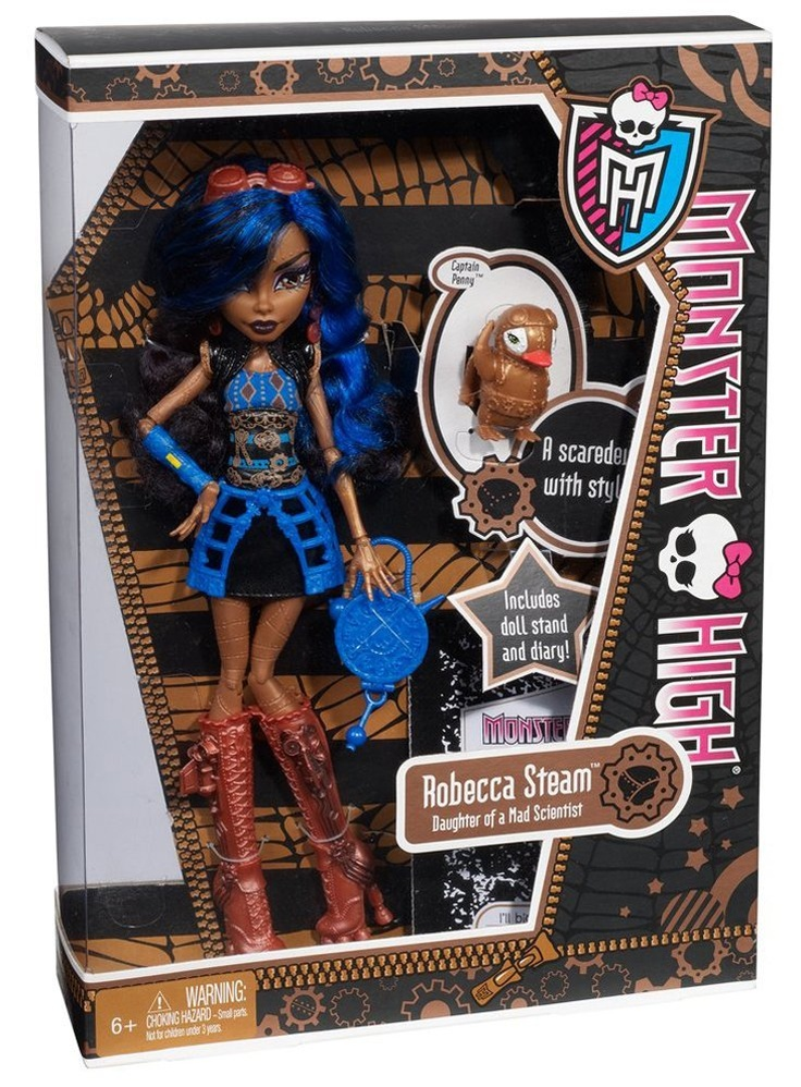 Amazon.com: Monster High Robecca Steam Doll: Toys & Games