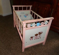 Vintage Wood Baby Dolls And Cribs On Pinterest