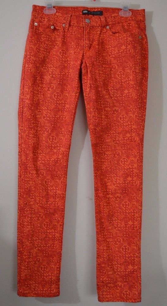 Levis womens orange jeans pants 524 too superlow 7 M actual 29 X 31 #Levis #524TooSuperlow