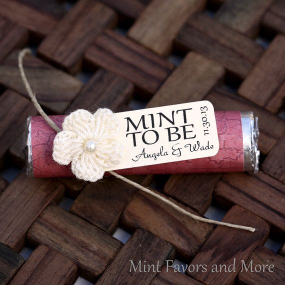 Mint Wedding Favor with Personalized Mint to by MintFavorsAndMore, $36.00