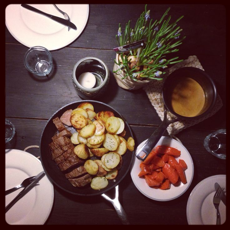 Sunday rustic dinner at home