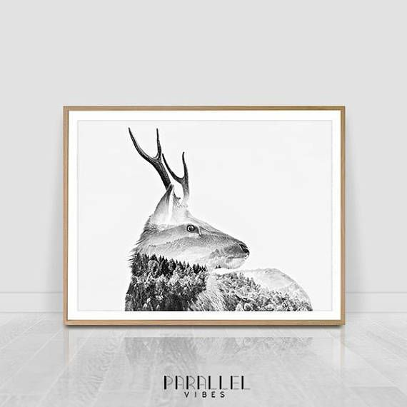 Check out this item in my Etsy shop https://www.etsy.com/listing/568769892/deer-print-double-exposure-poster
