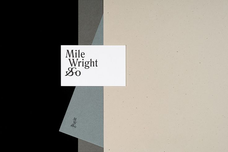 Brand identity for Mile Wright & Co. by @Nouvelle Administration