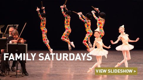 Saturday morning presentations designed especially for family audiences, featuring short works and excerpts from New York City Ballet's diverse repertory. NYCB artists guide you through the program, offering insights on the music and choreography. These performances are the perfect introduction to New York City Ballet and the world of classical dance!