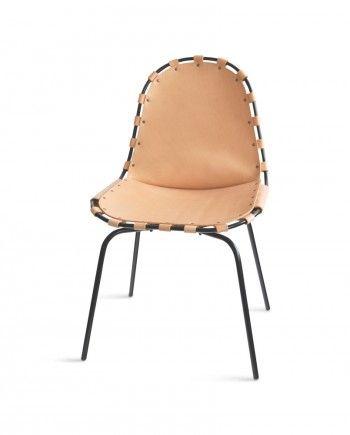 OX Denmarq - Köp Stretch stol – läder natur, svart stativ online på Roomly.se