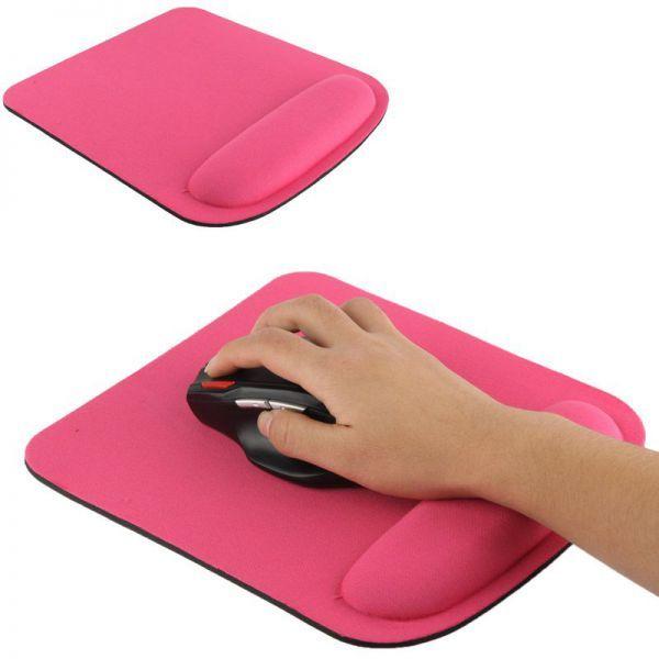 Tapis de souris ergonomique repose poignet gel ultra fin rose