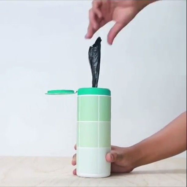 Cool DIY bag dispenser! ✅ Double tap and follow me for more awesome DIY videos! Credit : @buzzfeednifty