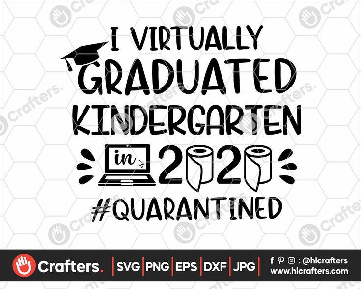 I Virtually Graduated Kindergarten SVG, Kindergarten