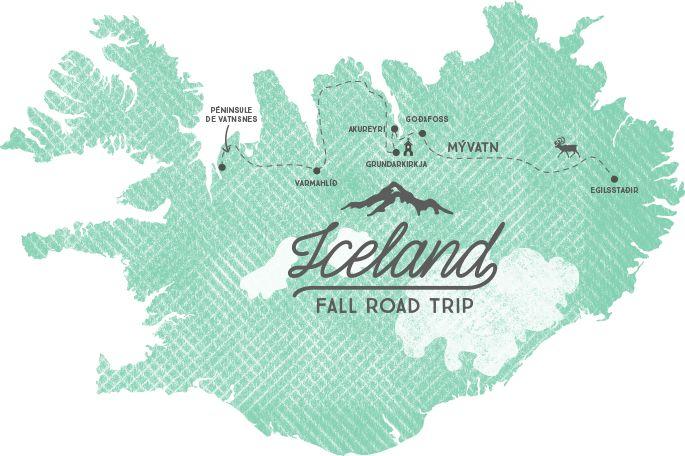 carte nord islande