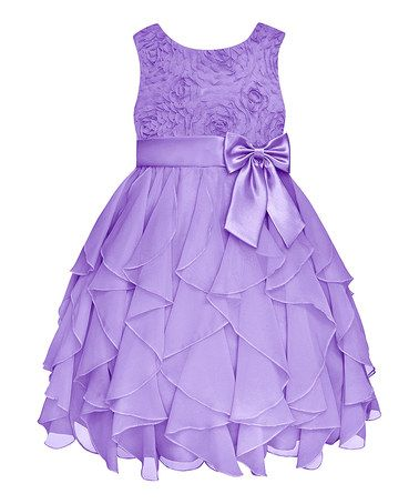 Look what I found on #zulily! Lilac Rosette Ruffle Dress - Infant, Toddler & Girls #zulilyfinds