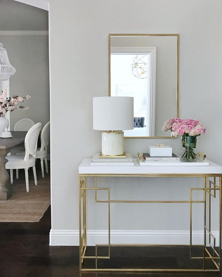 Entryway Decor Entryway Table Entry Table Gold Console Table