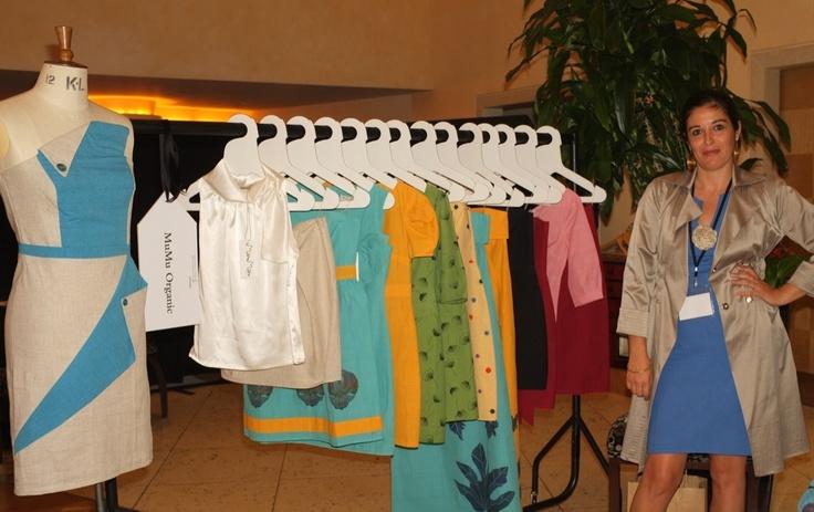 Designer Athena Bentila of MuMu organic at Ecoluxe