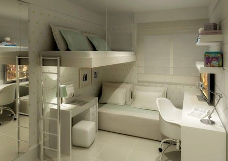 Vovó Santa.com.br: DECORAÇÃO: Decoração de quartos em espaço bem pequeno, como fazer?