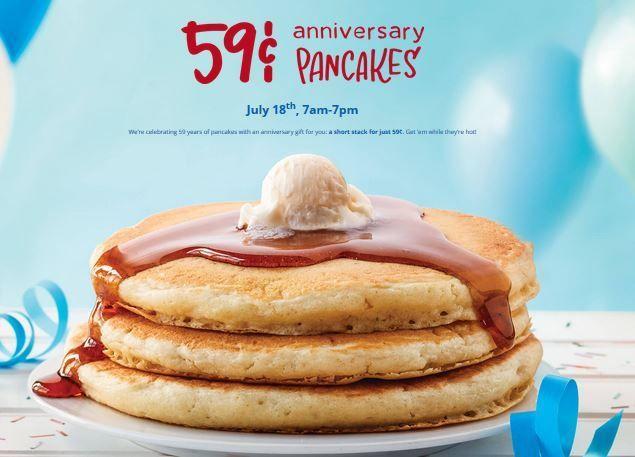 IHOP: $0.59 Short Stack Pancakes (7.18.17) http://simplesavingsforatlmoms.net/2017/07/ihop-0-59-short-stack-pancakes-7-18-17.html