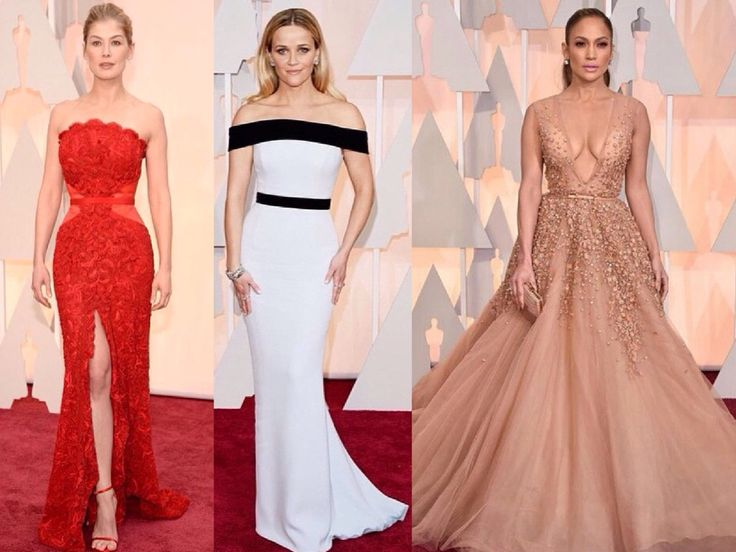 My fav looks from #Oscars2015 Rosamund Pike in Givenchy, Reese Weatherspoon in Tom ford & Jennifer Lopez in Elie Saab