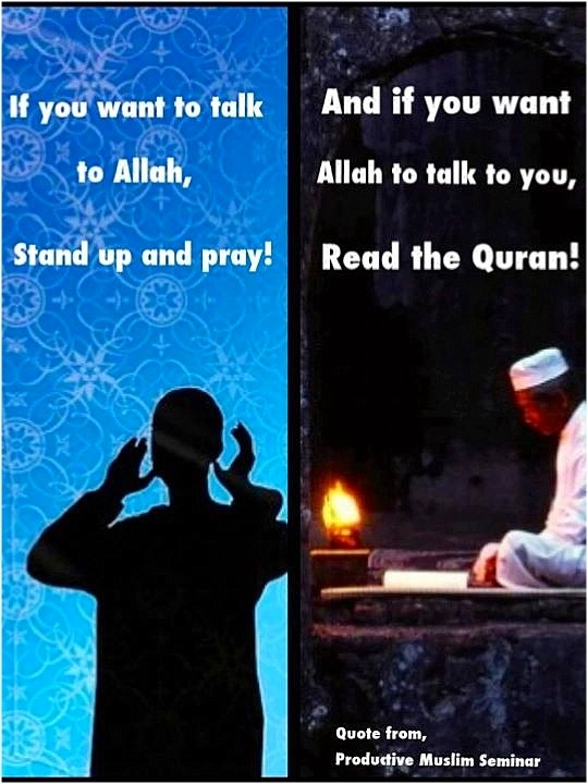 Pay attention to the conversation with Allah in Surah Al-Fatihah; Cultivtae your relationship with the Quran, and it will speak to you