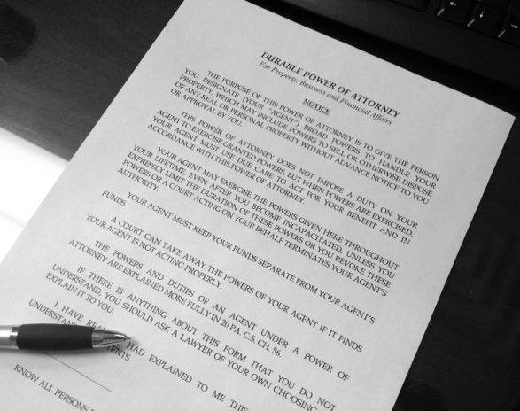 Power of attorney form pa