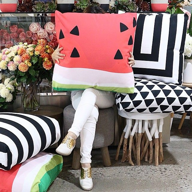 Watermelon Outdoor Cushion at Coco and Creme, Port Melbourne.