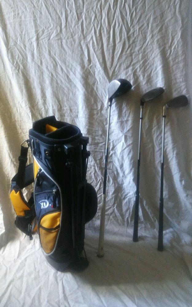 KIDS JUNIOR PRECISE XD-J GOLF BAG with 3 Golf Clubs #PRECISE #KidsGolfBag #KidsGolfClubs