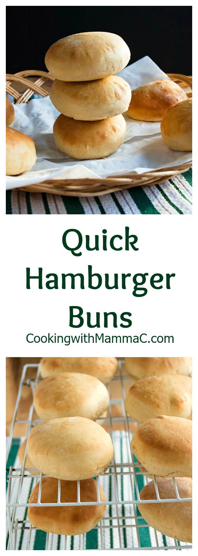 Make these Quick Hamburger Buns from scratch and elevate your burgers to a whole new level! No fancy equipment required.