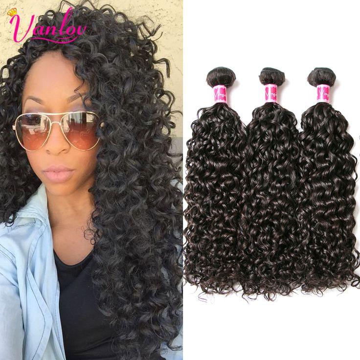 7a Wet And Wavy Brazilian Virgin Hair Brazilian Water Wave 3 Bundles Weave Beauty Crochet Hair Extensions Water Wave Human Hair