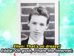 I can't believe I havent heard of his interview with Ellen before!