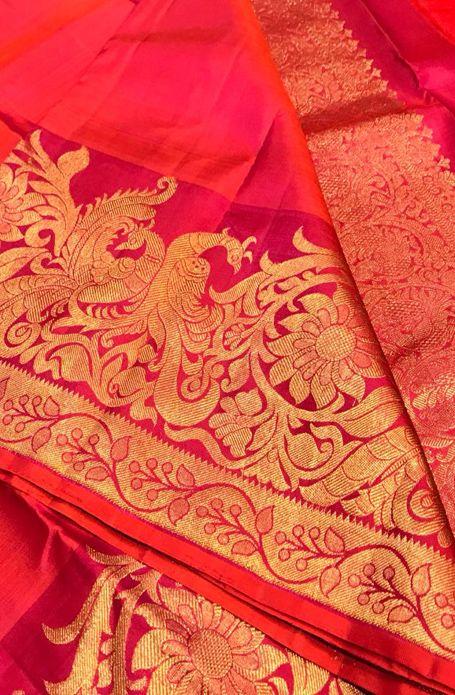 Pink Handloom Kanjeevaram Pure Silk Saree  #kanjeevaramsaree#puresilksaree# 3
