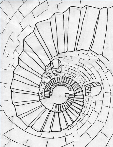 Best Draw A Spiral Staircase In Perspective Spiral Stairs 640 x 480
