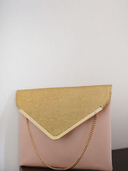 Clutch Me Honey - Blush Gold Sequin Envelope Clutch, $35.00 (http://clutchmehoney.com/blush-gold-sequin-envelope-clutch/)