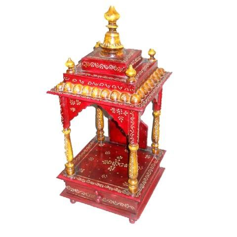 Handpainted Embossed  Temple Or Mandir Or Home Puja With Drower - FOLKBRIDGE.COM | Buy Gifts. Indian Handicrafts. Home Decorations.