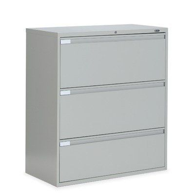 Global Total Office 36 W Three Drawer Lateral File 9336p