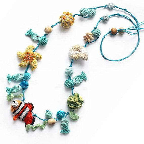 See Life Cloun Fish Nursing Necklace / Teething necklace / Breastfeeding Necklace for Mom / Teething toy on Etsy, $56.73 CAD