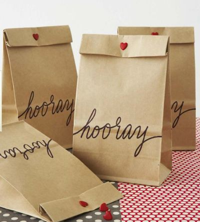 DIY {feed bags through printer}- from Handmade Weddings http://www.chroniclebooks.com/handmade-weddings