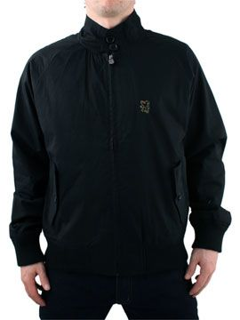 Lambretta Black Harrington Jacket Lambretta Harrington Jacket - Mens jacket from Lambretta - Zip through with two button collar - Two front button pockets - Ribbed cuffs and hem - Crest logo on chest - Product Code: LHJ6997BLA - Mater http://www.comparestoreprices.co.uk/mens-clothes/lambretta-black-harrington-jacket.asp