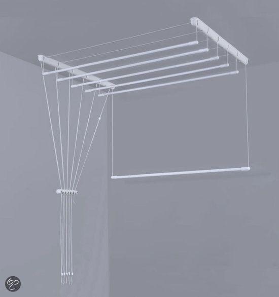 Ruimtebesparend Plafond Droogrek - 6 stangen elk 180 cm lang.