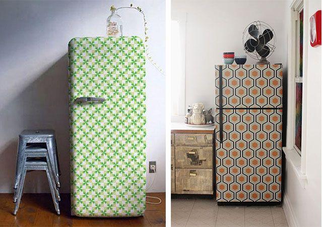 Decore sua geladeira com adesivos, contact, papel de parede, fotos, pintura... Inspire-se!
