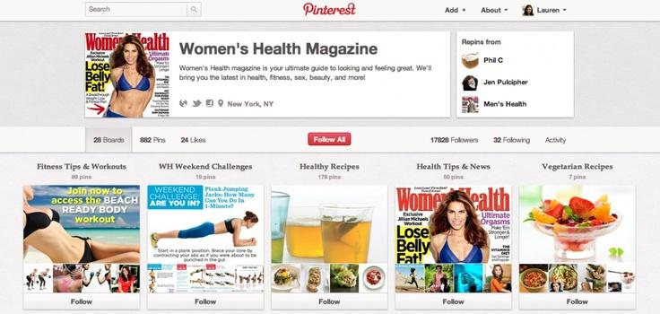 Women's Health magazine opens Pinterest to advertisers