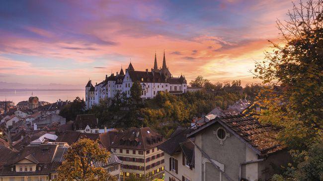 Tour du Lac de Neuchatel - Distance: 107.18 km - Elevation: 370 hm - Location: Neuchâtel, Canton of Neuchâtel, Switzerland
