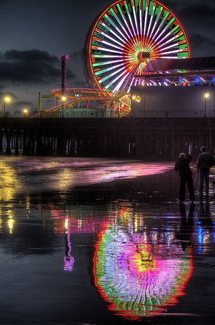 "Wheel and Reflection by Dave Reichert on Flickr. ""At the Trey Ratcliff Photowalk, Santa Monica, CA."""
