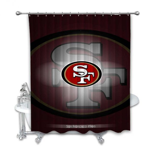 San Francisco 49ers Nfl Football Logo Team Shower Curtain In 2020