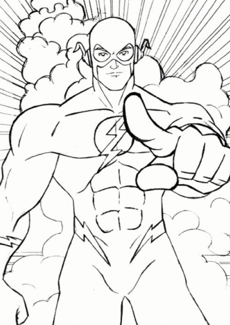 Free Easy To Print Flash Coloring Pages In 2020 Superhero Coloring Pages Coloring Pages Superhero Coloring
