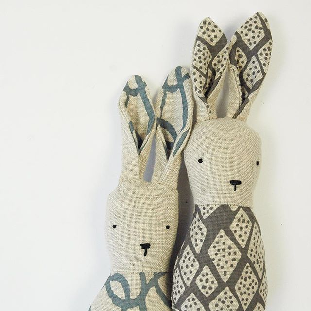 Ouistitine and Bookhou collaborated to create these gorgeous handmade bunny rattles. We have more in store and online.
