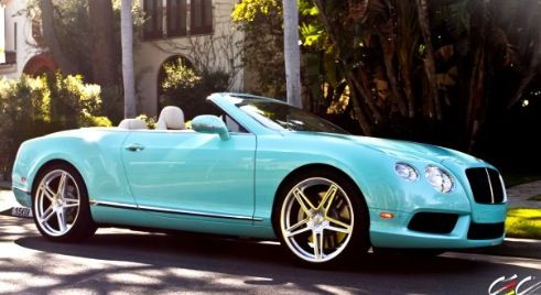 Tiffany Blue Bentley Convertible Cars Pinterest