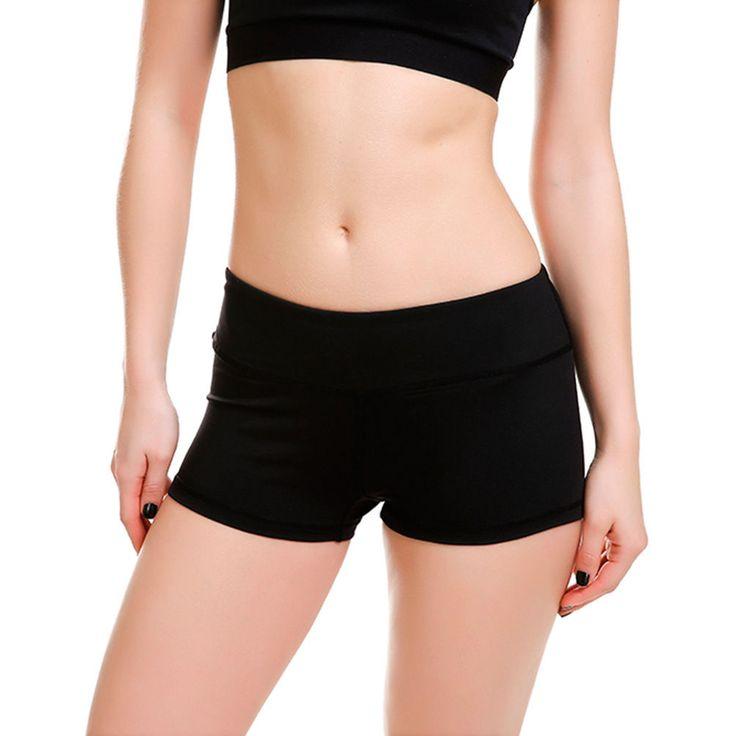 Women Hot Sell Breathable Black Shorts Lady Sport Shorts Yoga Shorts S-4Xl