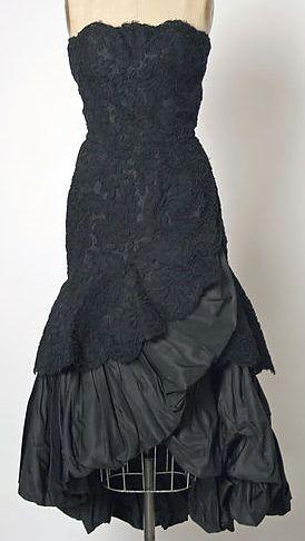 Balenciaga - Vintage - Robe Bustier Volantée - Soie et Dentelle - 1951