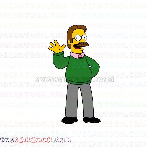 Ned Flanders The Simpsons Svg Dxf Eps Pdf Png Ned Flanders The Simpsons Flanders
