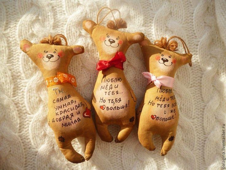 Купить Кофейные позитивчики -мишки - коричневый, игрушка ручной работы, игрушка в подарок, ароматизированная игрушка