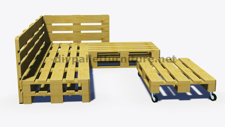 Anweisungen und 3D-Pläne, wie man ein Sofa für den Garten mit Paletten machen 8
