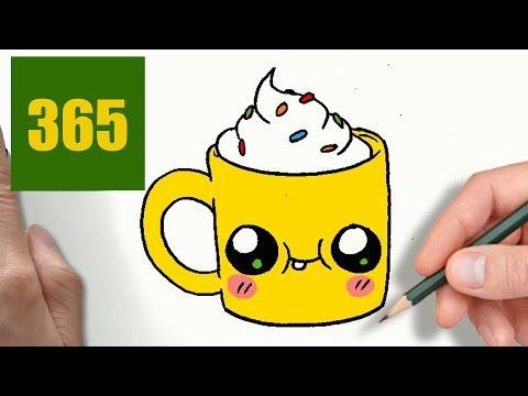 COMMENT DESSINER TASSE DE CAFÉ KAWAII ÉTAPE PAR ÉTAPE – Dessins kawaii facile - YouTube