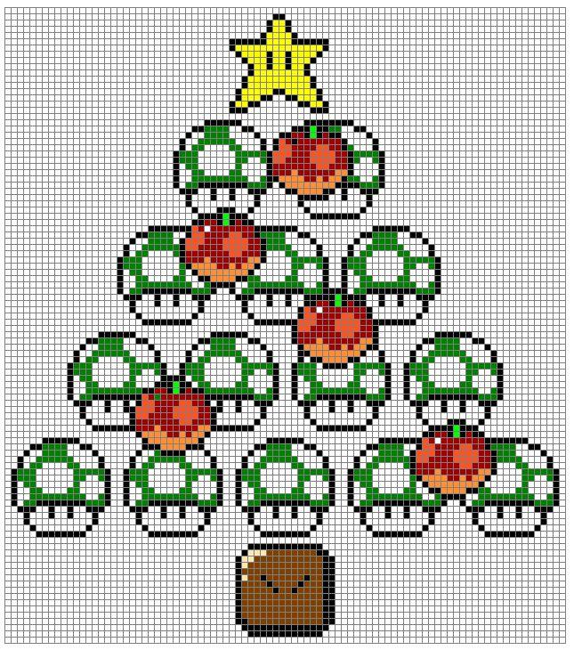 Nintendo xmas xstitch pattern by ~NurseTab on deviantART
